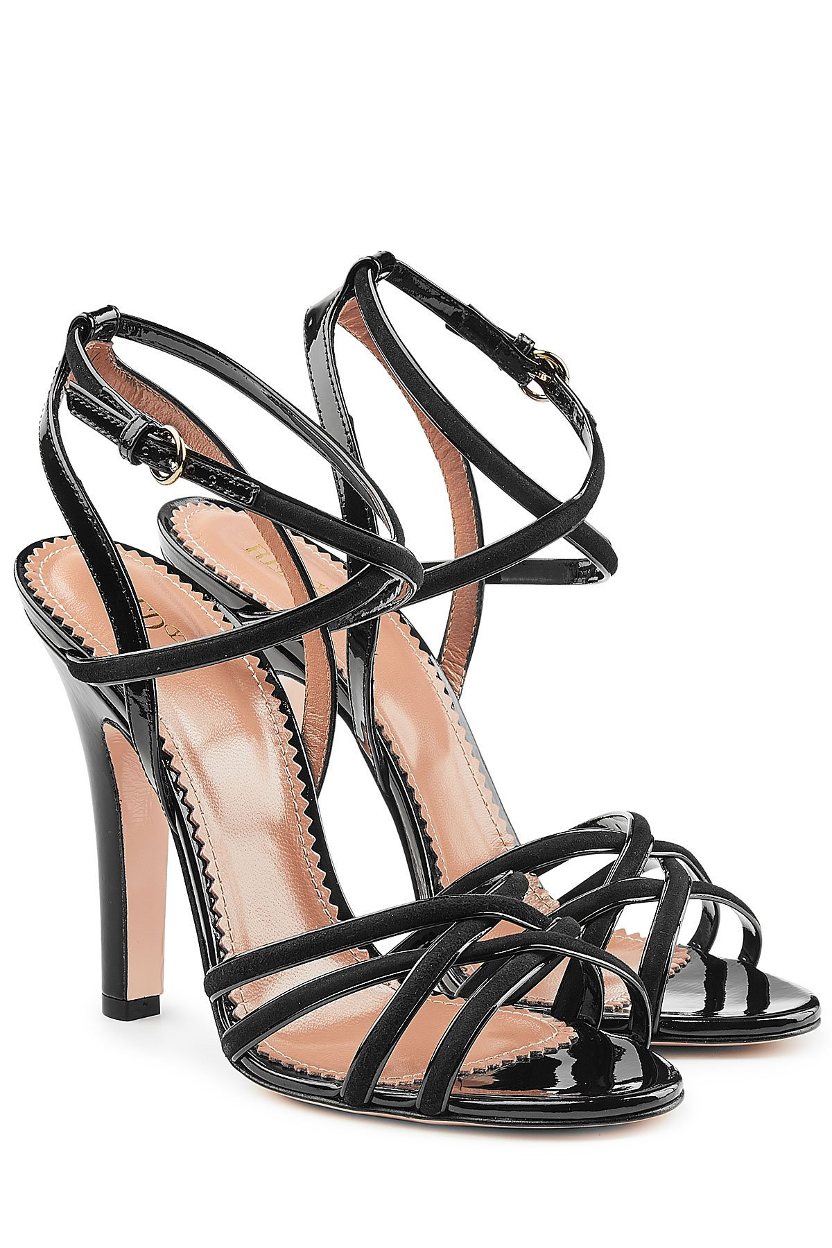 Patent Leather Sandals with Suede Gr. EU 39