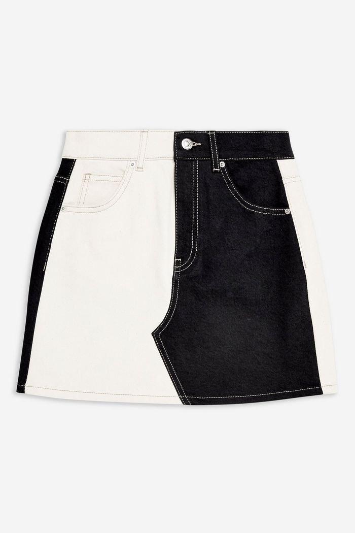 Silver Metallic Skirt   Topshop