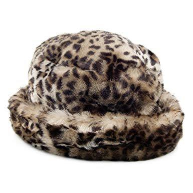 leopard fur bucket hat