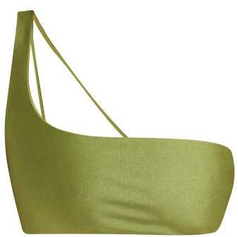 Apex One Shoulder Bikini Top - Womens - Green