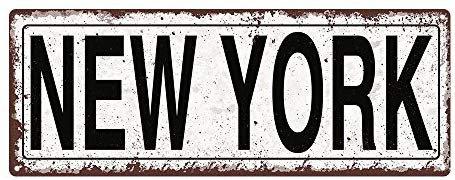 New York Metal Street Sign
