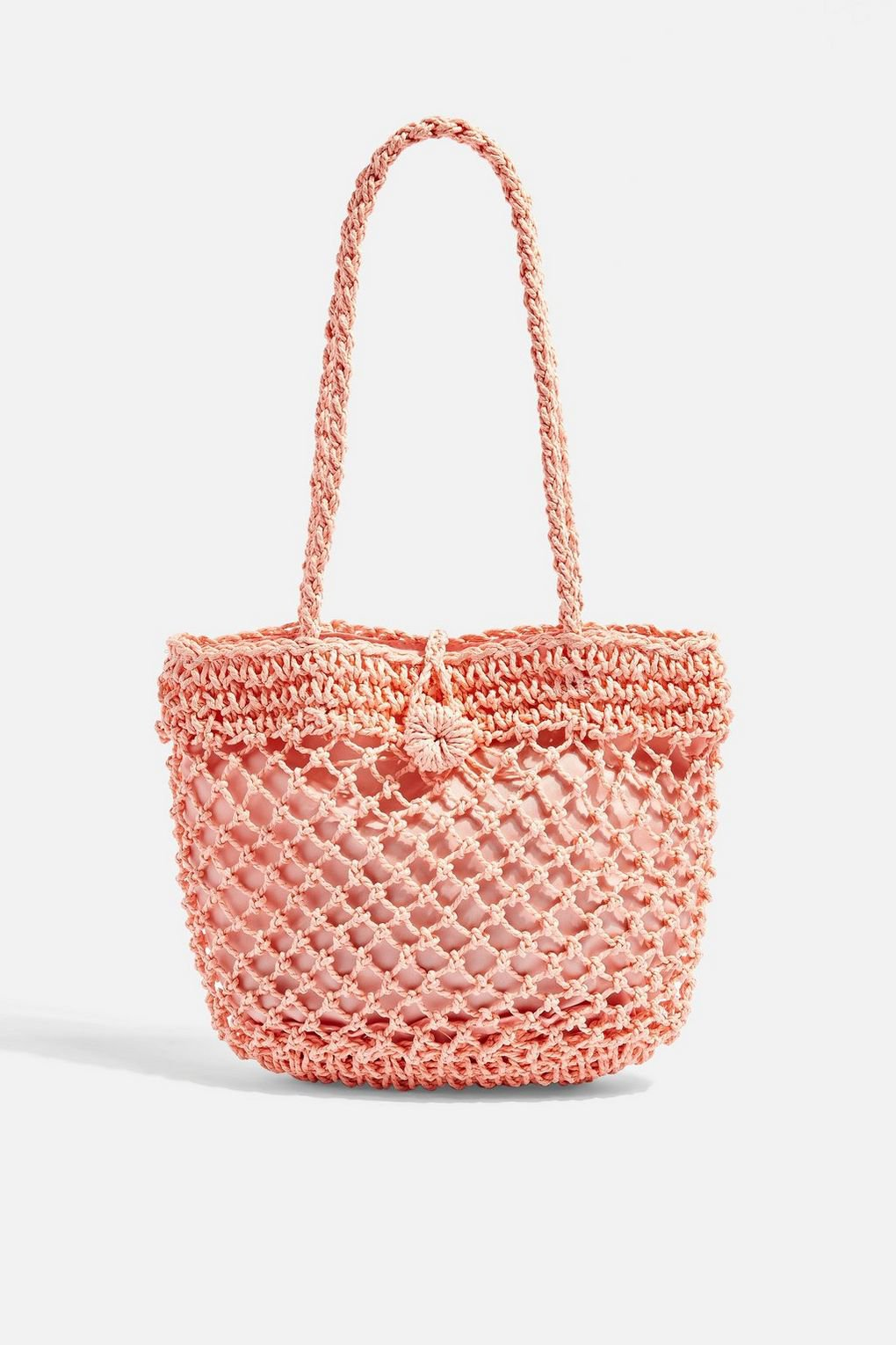 FIZZLE Pink Straw Tote Bag - Bags & Wallets - Bags & Accessories - Topshop USA