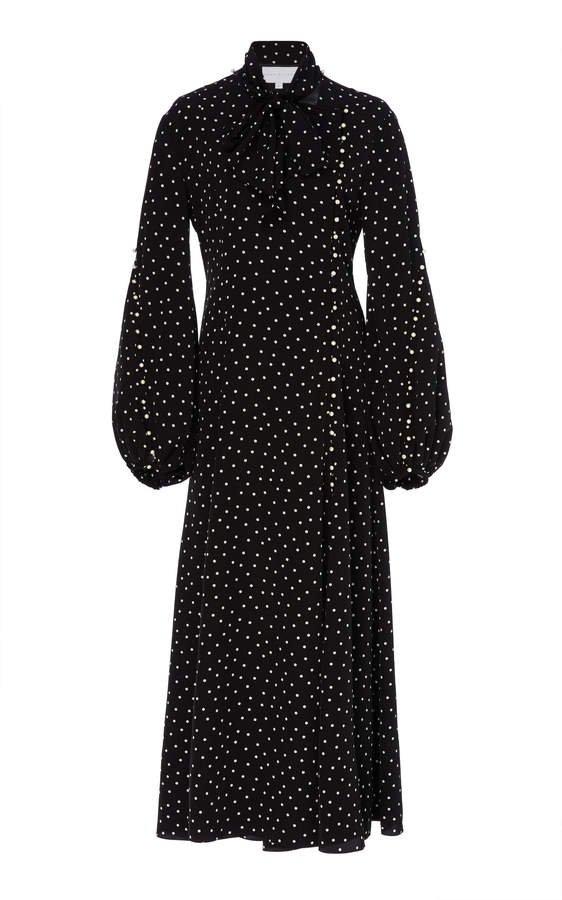 Noon by Noor Dover Polka-Dot Georgette Dress