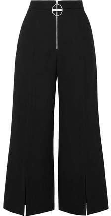 Wool-crepe Flared Pants