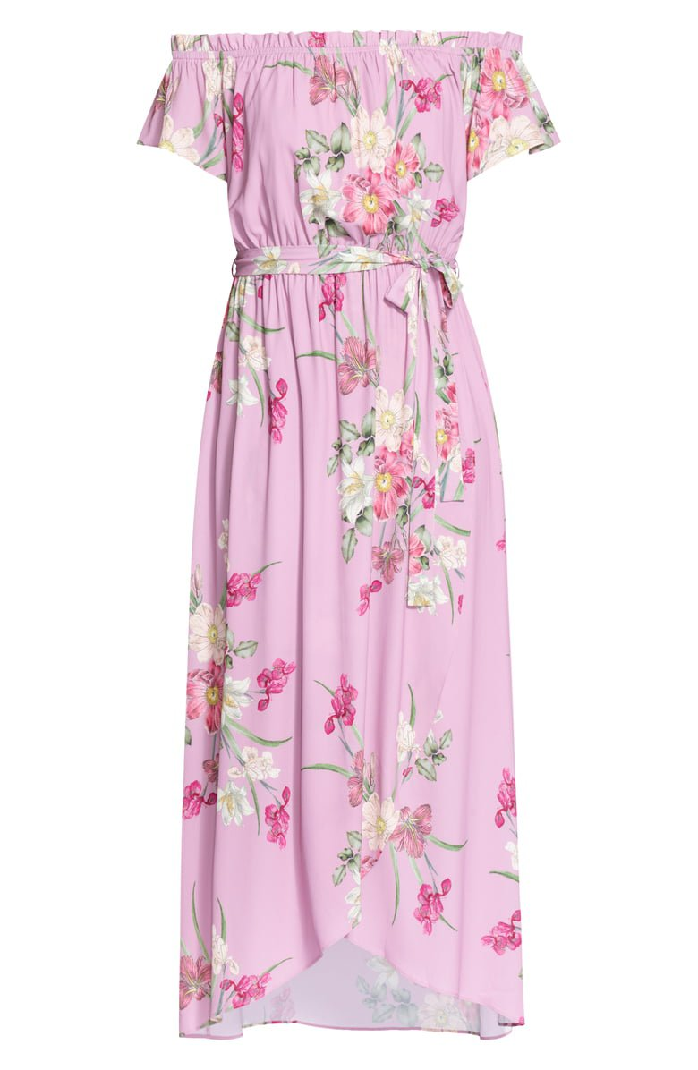 City Chic Pink Floral Maxi Dress (Plus Size)   Nordstrom