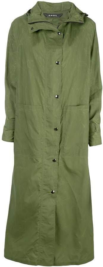 Kassl Editions single breasted rain coat