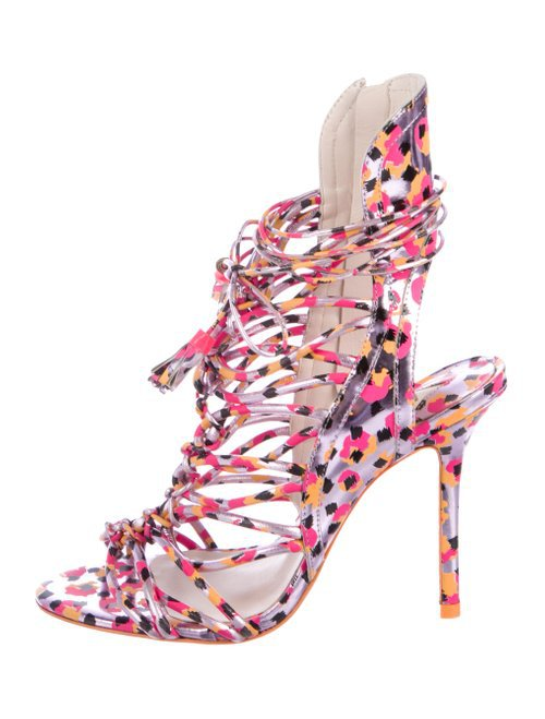 Sophia Webster Printed Leather Sandals - Shoes - W9S22426 | The RealReal