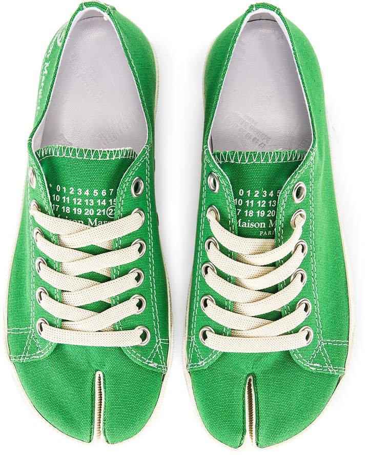 Low Top Canvas Sneakers in Pepper Green | FWRD