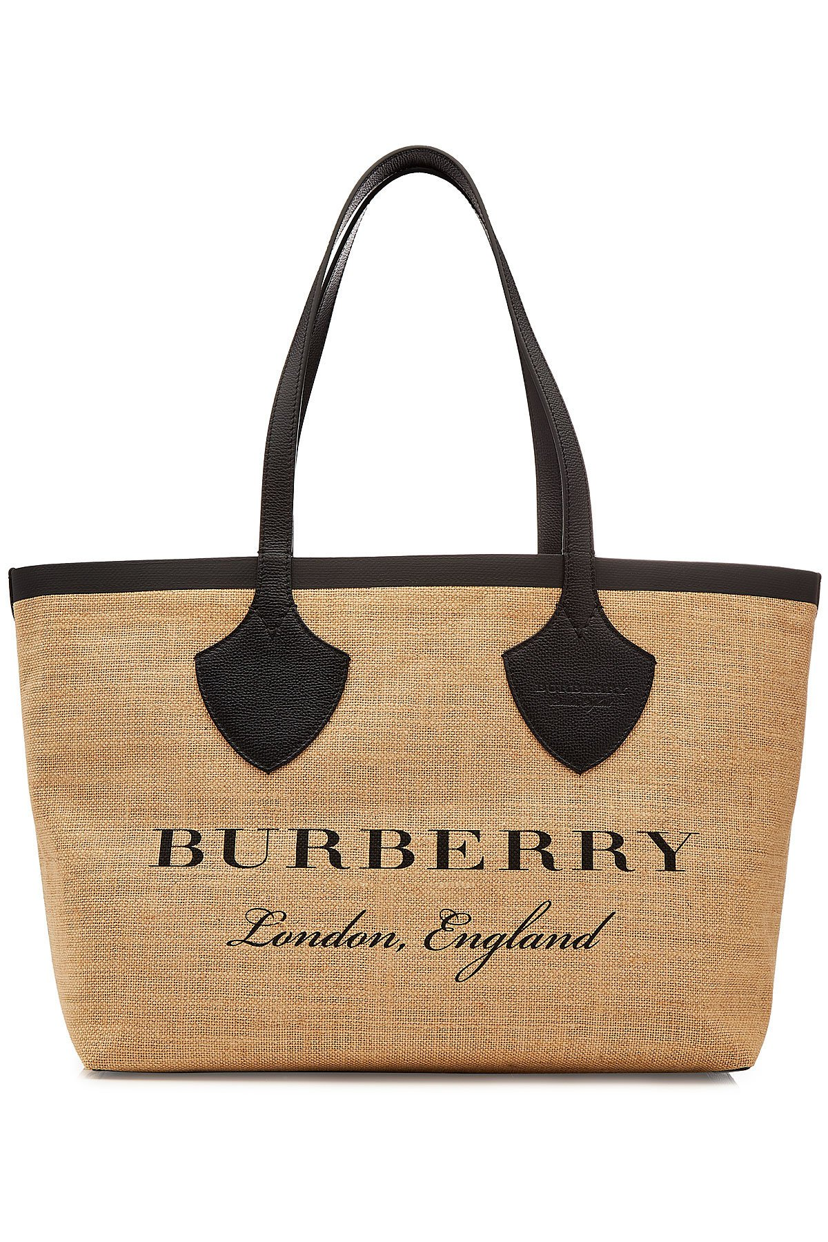 The Giant Tote Jute Bag with Leather Gr. One Size