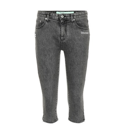 Mid-rise cropped jeans