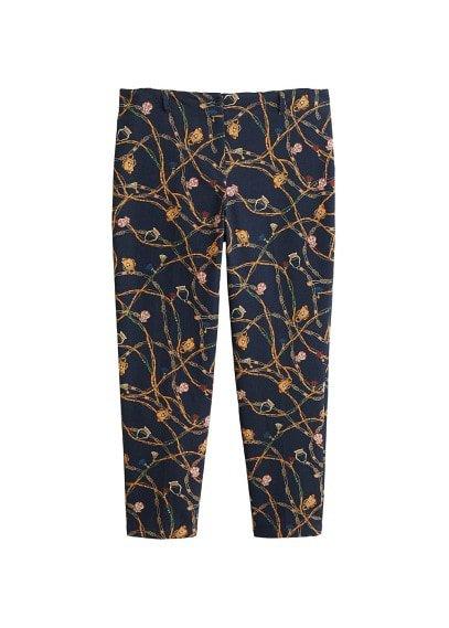 Violeta BY MANGO Chain print trousers