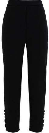Santiago Cropped Button-embellished Twill Tapered Pants