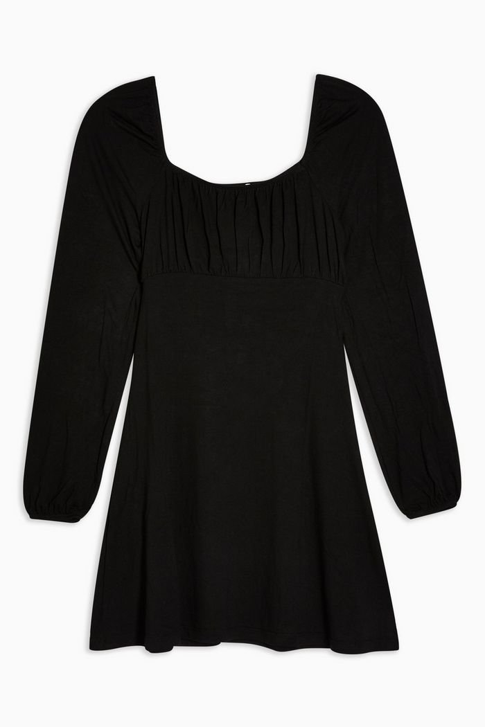 Black Blouson Mini Dress | Topshop
