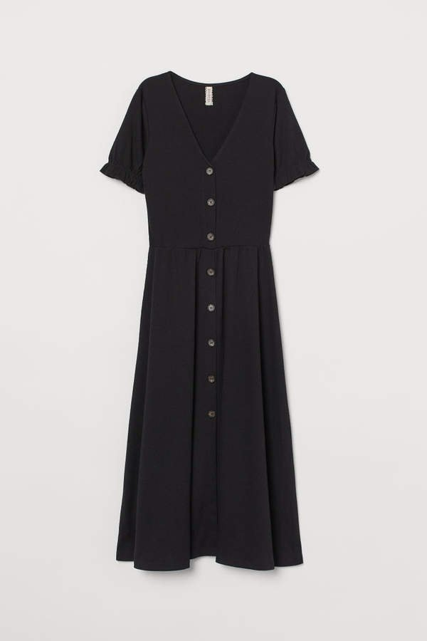 V-neck Dress - Black