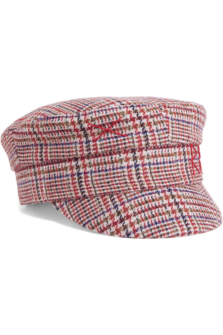 Ruslan Baginskiy | Embroidered Prince of Wales checked wool cap | NET-A-PORTER.COM