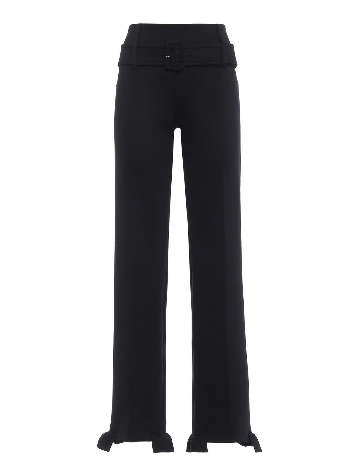 Prada Flared Belted Trousers