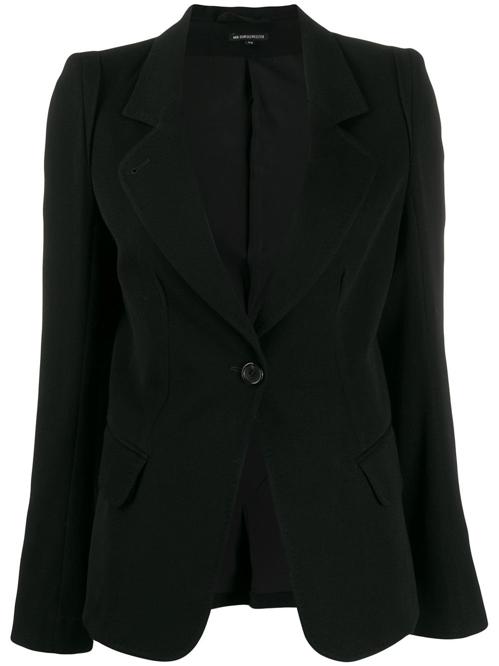 Black Ann Demeulemeester Single-Breasted Fitted Blazer   Farfetch.com