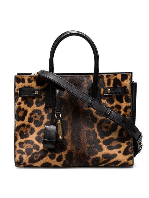 Saint Laurent Leopard Sac De Jour pony tote bag $3,550 - Buy Online - Mobile Friendly, Fast Delivery, Price