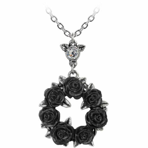 Ring 'O Roses Pendant Necklace Gothic Jewelry Rose Wreath Love Occult Fashion | eBay