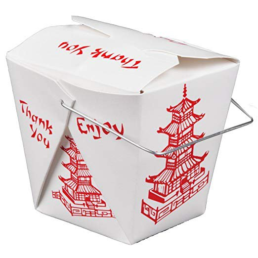 Amazon.com: Pack of 15 Chinese Take Out Boxes PAGODA 16 oz / Pint Size Party Favor and Food Pail: Gateway