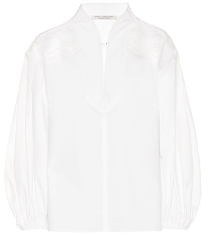 Broderie anglaise cotton blouse