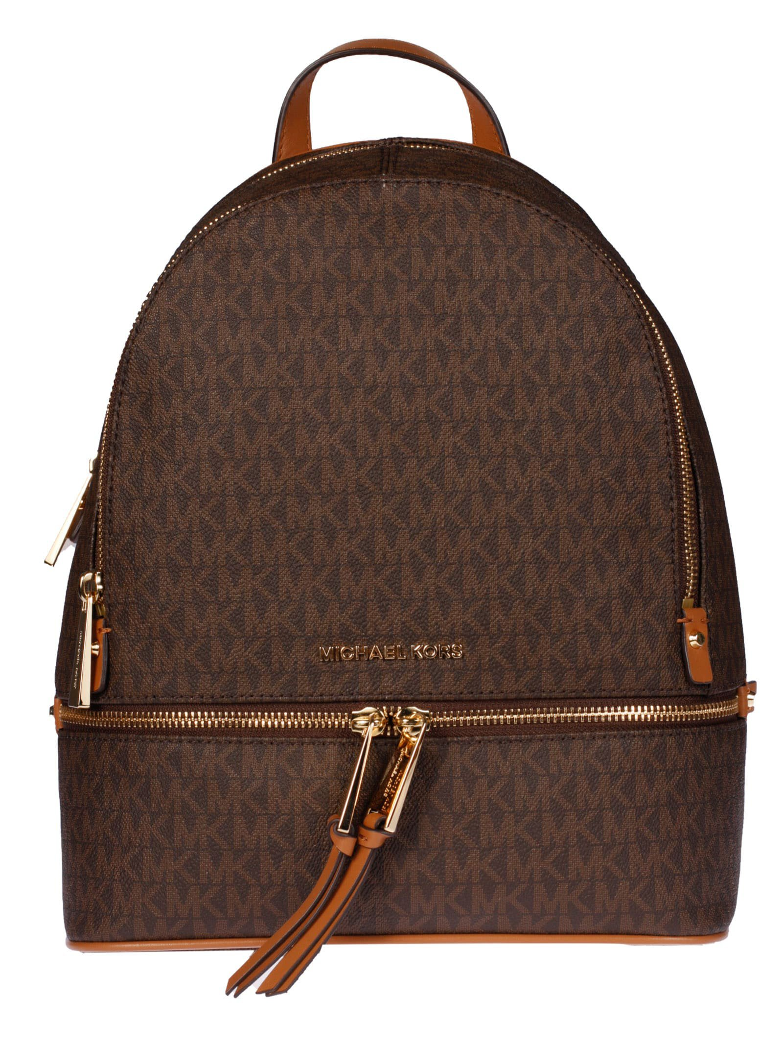 Michael Kors Rhea Medium Zipped Initials All-over Print Backpack