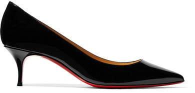 Kate 55 Patent-leather Pumps - Black