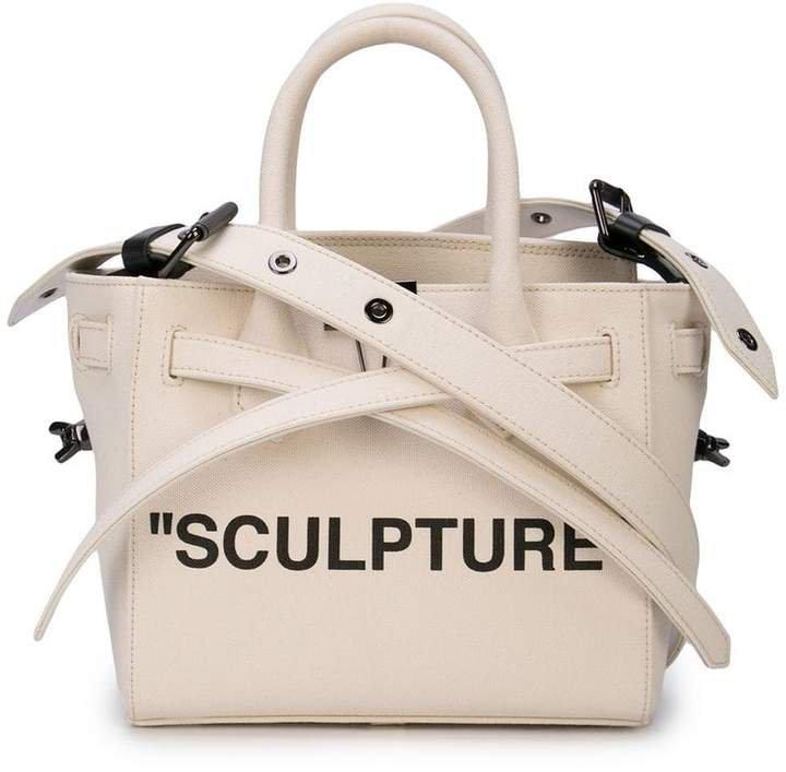 sculpture tape crossbody bag