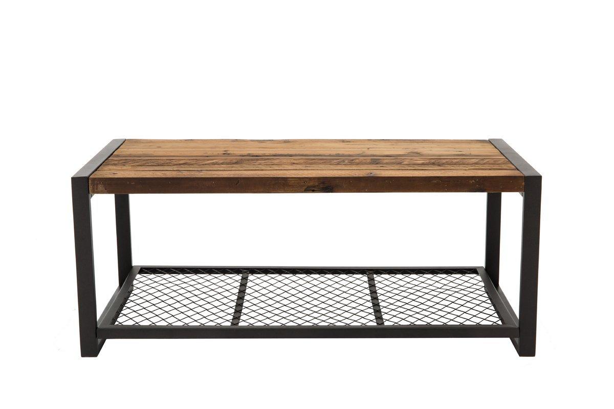 Austen Coffee Table Wood & Iron