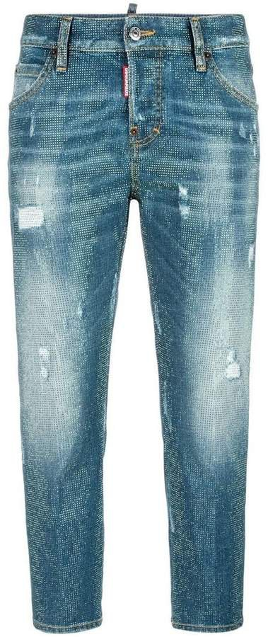 Cool Girl microstudded jeans