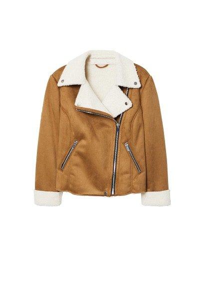 Violeta BY MANGO Faux shearling-lined jacket