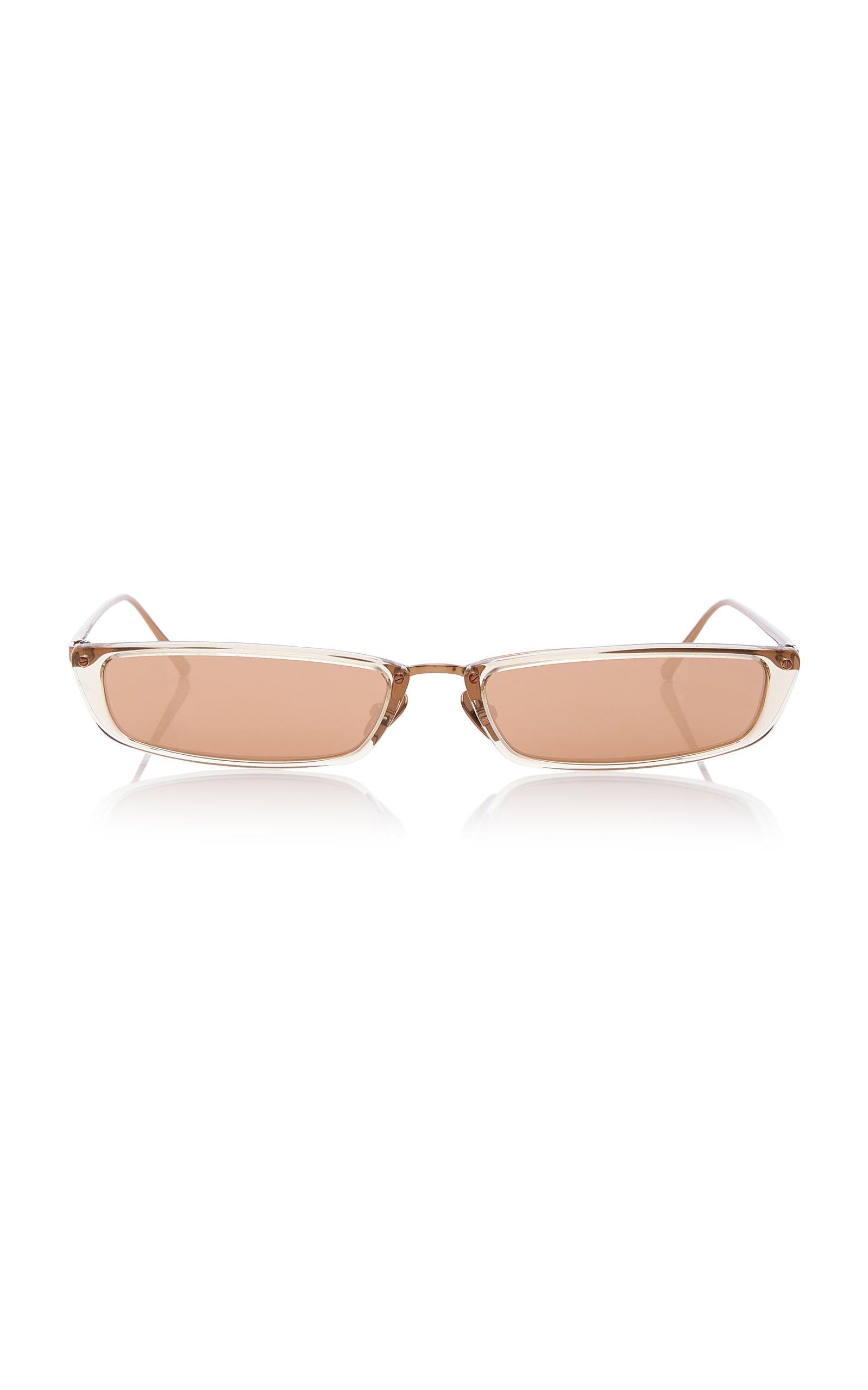 Linda Farrow Square-Frame Acetate And Metal Sunglasses