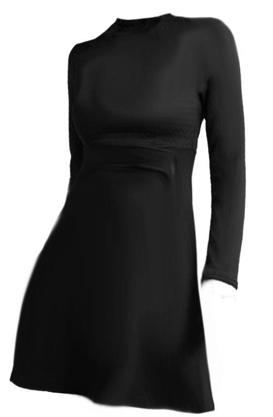 H&M mock neck dress