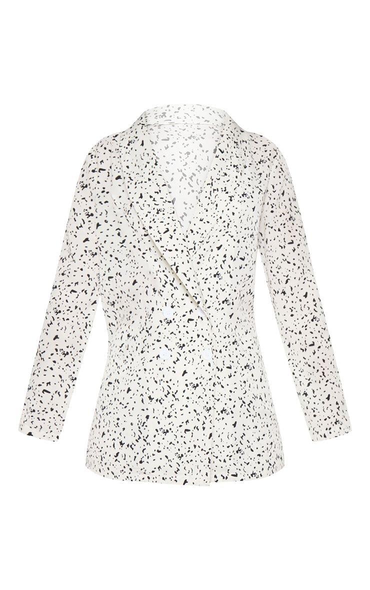 Rust Dalmatian Print Longline Blazer | PrettyLittleThing