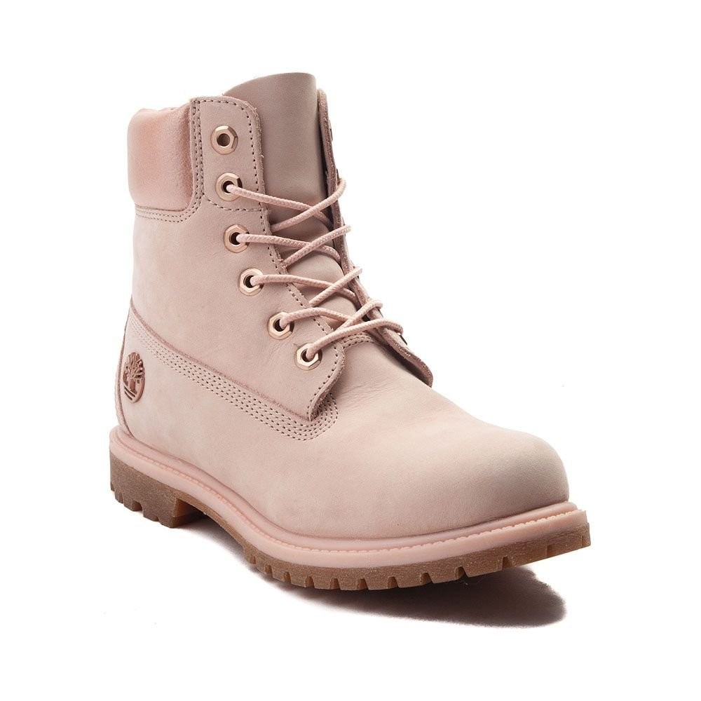 Womens Timberland 6 Metallic Collar Premium Boot - pink - 538404