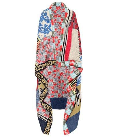 Cotton and silk-blend cape
