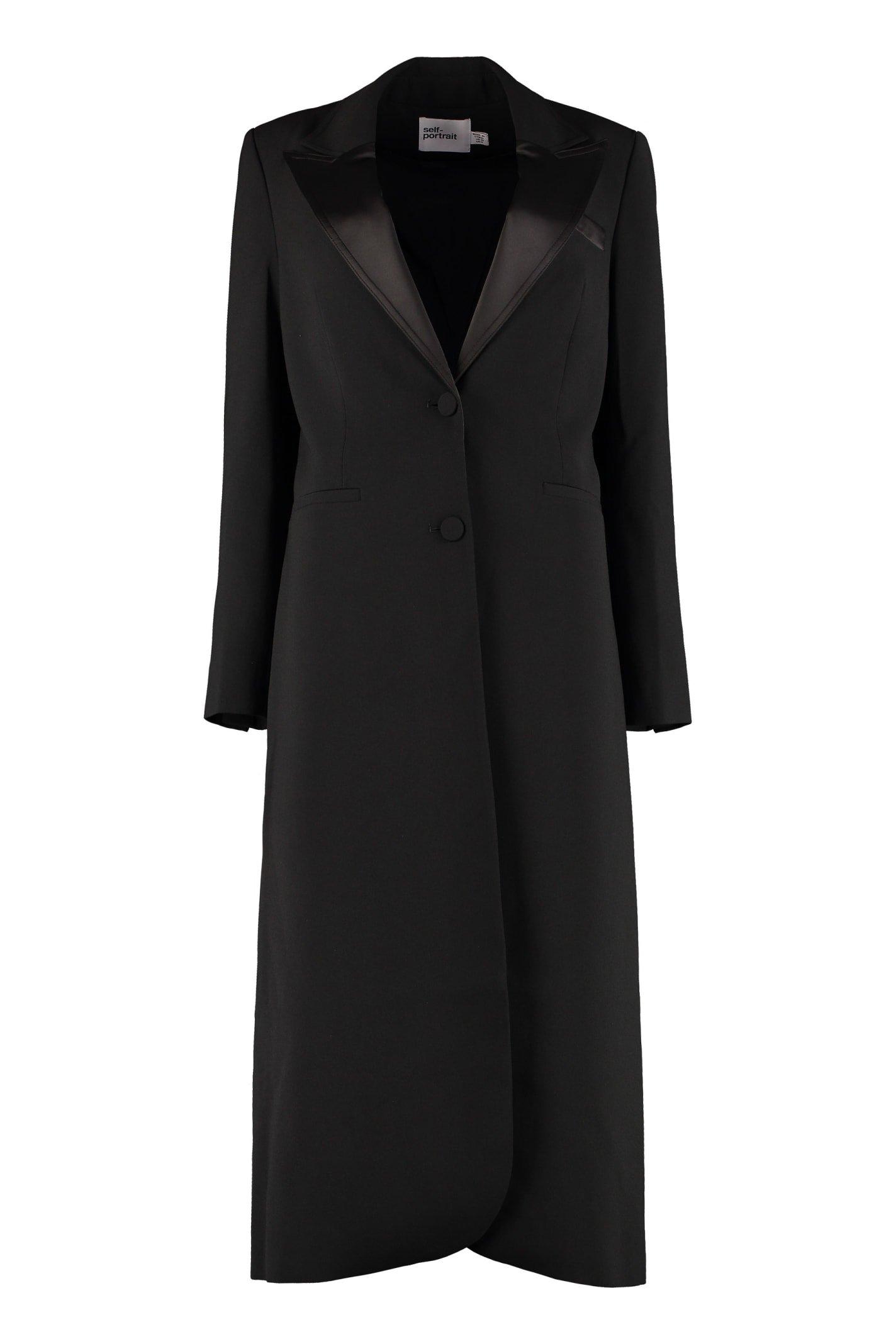 self-portrait Single-breasted Long Coat