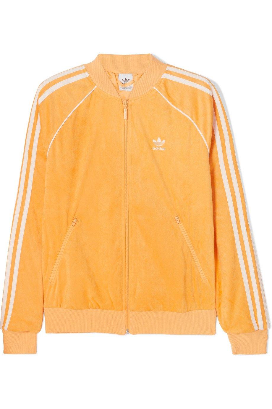 adidas Originals | SST striped terry track jacket | NET-A-PORTER.COM