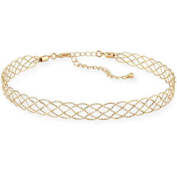 Diamond Cut Choker Necklace