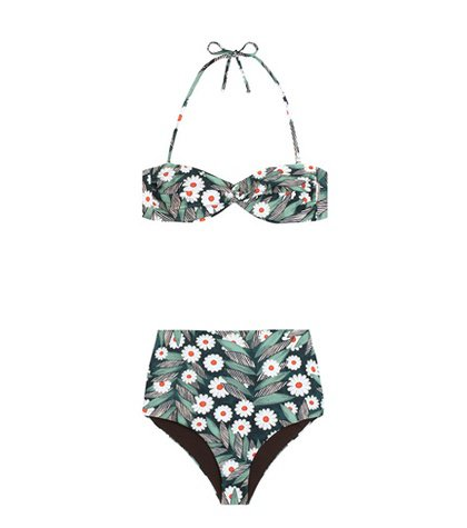 Printed high waisted bikini