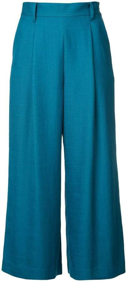 Loveless cropped flared trousers