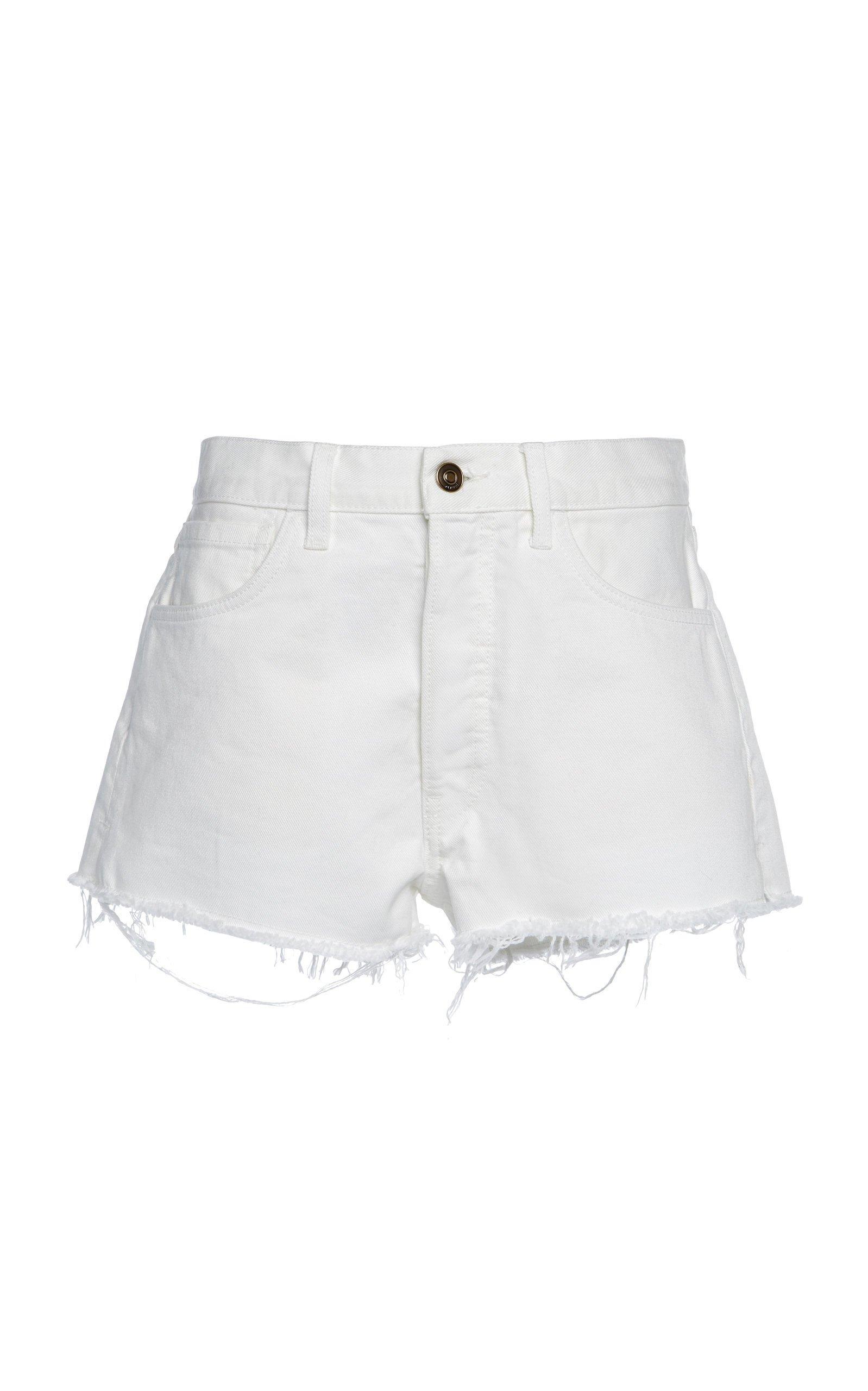 Alanui High-Rise Denim Shorts Size: 25