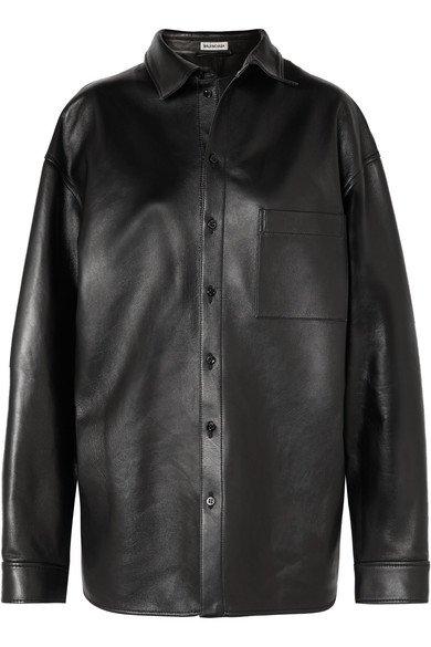 Balenciaga | Oversized leather shirt | NET-A-PORTER.COM