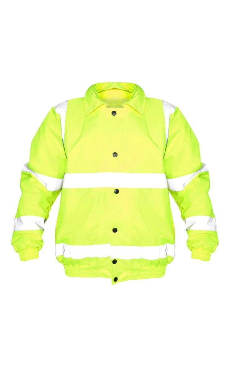 Neon Yellow High Vis Coat | Coats & Jackets | PrettyLittleThing USA