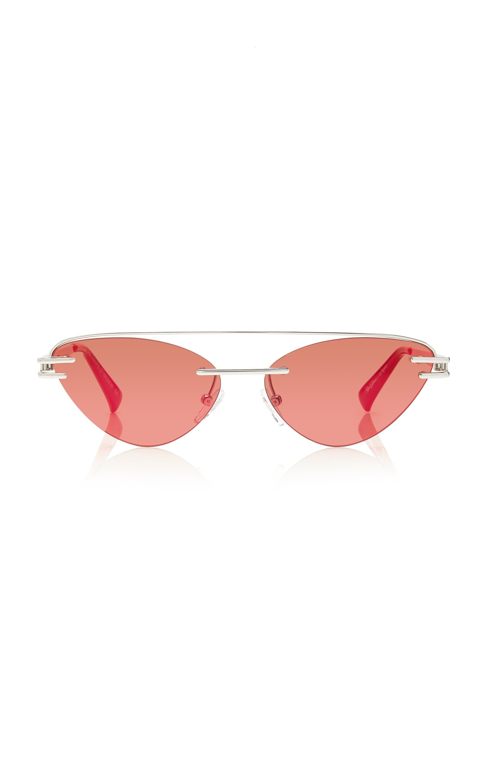 Adam Selman X Le Specs The Coupe Metal Cat-Eye Sunglasses