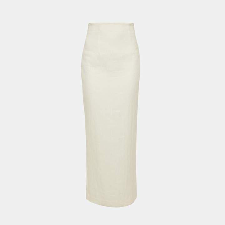 Luxe Linen Long Pencil Skirt