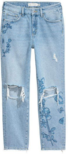 Straight Regular Ankle Jeans - Blue