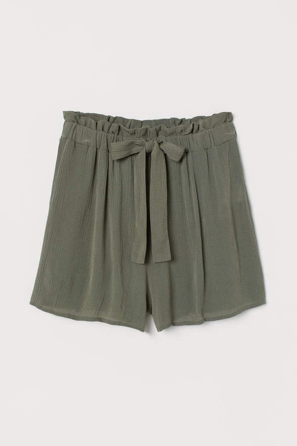 Shorts with Ties - Green