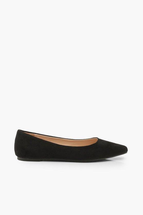Pointed Toe Ballet Flats | Boohoo