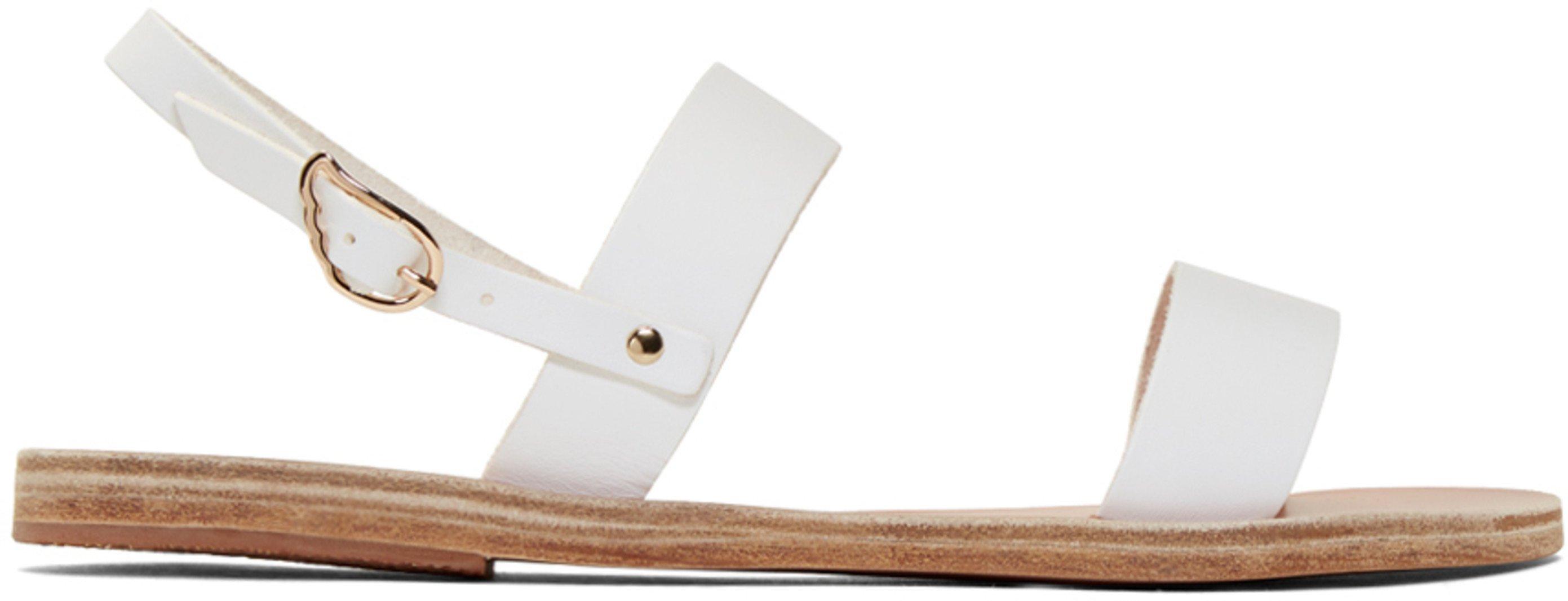 dope white greek sandal
